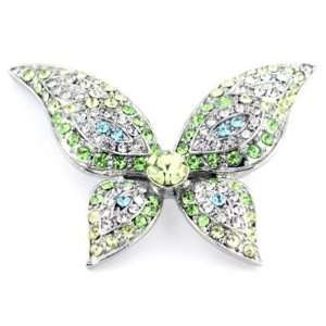 Rhinestone Butterfly Brooch Pin Jewelry