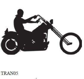Reflective Vinyl Sticker/Decal Motorcycle