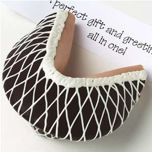 Dipped Fortune Cookie Dark Chocolate Drizzled with White Chocolate