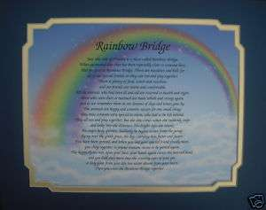 RAINBOW BRIDGE PET MEMORIAL POEM GIFT DOG OR CAT VERSE