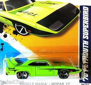 Hot Wheels Muscle Mania   MOPAR 12   70 Plymouth Superbird   L case