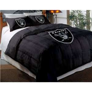 Oakland Raiders NFL Embroidered Comforter Twin/Full (64 x