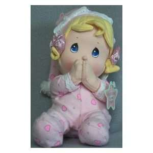 Precious Moments Spanish Prayer Doll   Girl in pink Toys