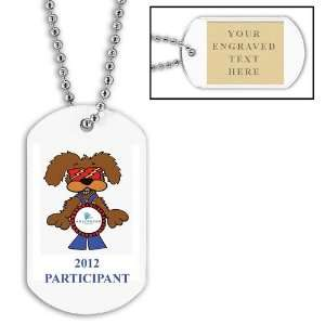 Custom Full Color Dog tag w/ Engraved Plate Toys & Games