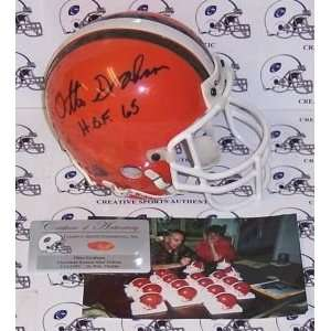 Otto Graham Cleveland Browns Hand Signed Mini Helmet