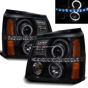 02 06 Cadillac Escalade LED Halo Projector Headlights