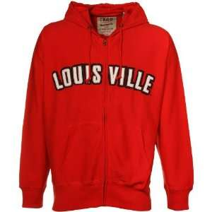 Izod Louisville Cardinals Red Full Zip Hoody Sweatshirt