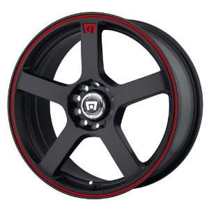 Motegi MR116 16x7 Black Wheel / Rim 5x4.25 & 5x4.5 with a 40mm Offset