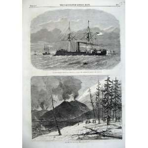 1865 Steam Ship Stonewall Lisbon Eruption Mount Etna