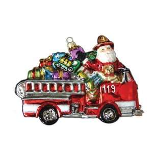 Fire Truck with Toys Polonaise Christmas Ornament 4.3