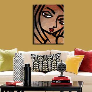 ORIGINAL ABSTRACT PAINTING CONTEMPORARY HUGE MODERN WOMAN FACE ART by