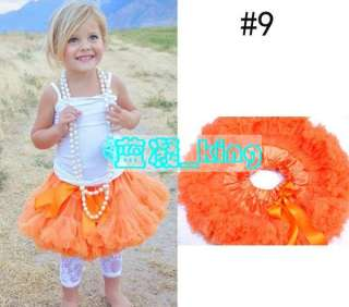 Pettiskirt bow Ballet Skirt child kids baby toddler girl Tutu ruffle