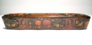 Antique Middle Eastern Qajar Persian Lacquer Pen Box