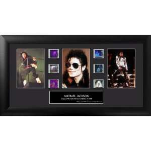 Michael Jackson (Series 1) Framed Trio Film Cell