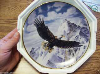 Franklin Mint On Freedoms Wing Eagle Plate