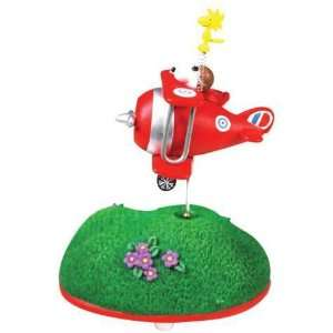 Peanuts Musical Over the Hills Snoopy Fly Ace Figurine