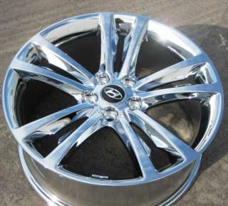 HYUNDAI GENESIS COUPE CHROME OEM WHEELS RIMS 2009 2011 SET OF 4