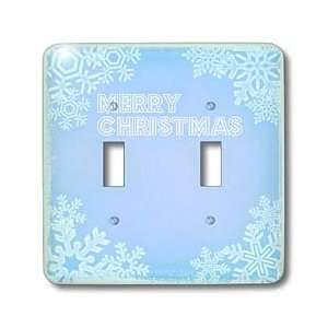 Patricia Sanders Christmas   Clear Sky Blue Merry Christmas Snowflakes