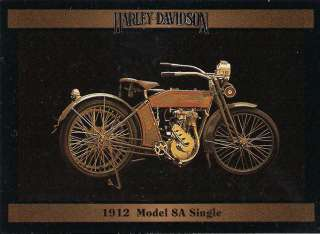Harley Davidson Motorcycle 1912 Model 8A Single Eng 35 CI Single