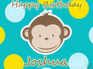 MOD Monkey Edible Birthday CAKE Image Icing Topper A