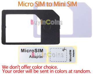 Micro SIM Card Adapter Converter for iPhone 4G iPad 3G