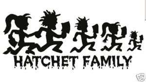 ICP HATCHETMAN FAMILY Hatchet Girl Decal Vinyl Sticker