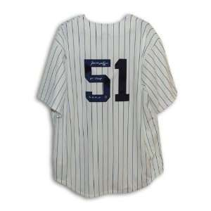 Bernie Williams Autographed New York Yankees Pinstripe Majestic Jersey