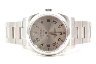 Original Rolex Mens Stainless Steel Air King Silver Dial 114200