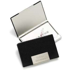 Baby Keepsake Personalized Black Leather Business Card Case Baby