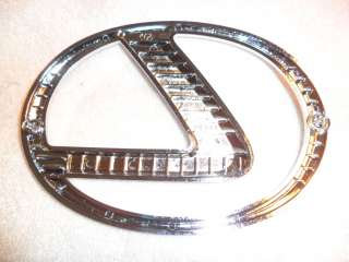 NEW OEM LEXUS LOGO L CHROME FRONT GRILL EMBLEM BADGE GS430 GS350 LS460
