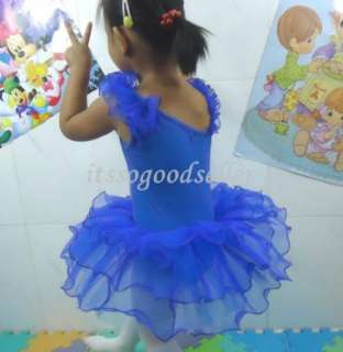 Girl New Party Leotard Ballet Dance Tutu Dress SZ3 9Y
