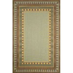 Liora Manne Terrace Rug Collection   Border Aqua