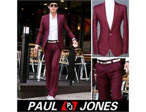 Mens Stylish COOL Fit Button Suit Luxury Dress NEW
