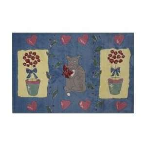 Cat and Pot Kids Rug in Multi   39 x 58   Jade Reynolds