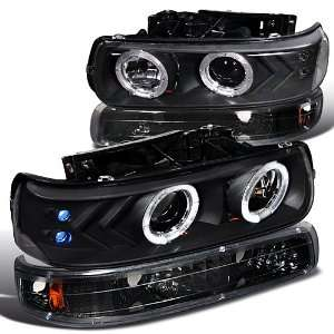 CHEVY CHEVROLET SILVERADO HALO LED PROJ HEADLIGHTS + BUMPER LIGHTS