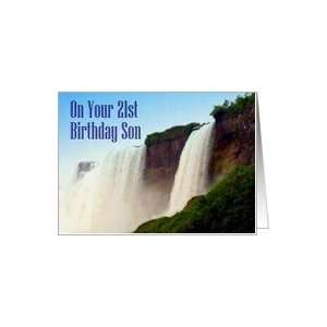 Birthday ~ Son ~ 21st ~ Niagara Falls Canada Card Toys & Games