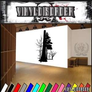 Trees Landscape Tree Line NS011 Vinyl Decal Wall Art Sticker