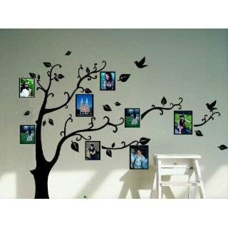 6ft Tree Brown & Green with Bird Wall Decal Deco Art Sticker