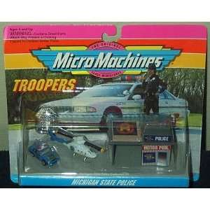 Michigan State Police Micro Machines Troopers Set #2 Toys