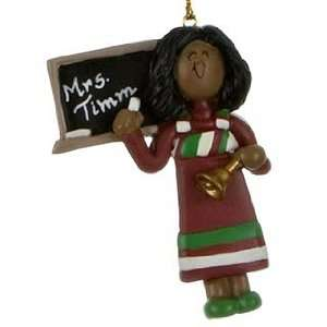 Personalized Ethnic Teacher   Female Christmas Ornament