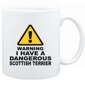 White  WARNING  DANGEROUS Scottish Terrier  Dogs