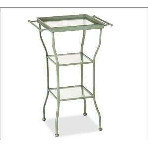 Pottery Barn Painted Metal Accent Table   Large Kitchen