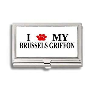 Brussels Griffon Paw Love My Dog Business Card Holder