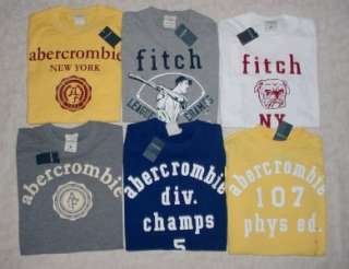 NEW M Abercrombie & Fitch Kids Boys Graphic T Shirt Lot Set of 6