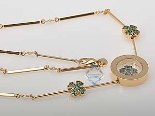 Chopard Yellow Gold Diamond 4 Leaf Clover Necklace
