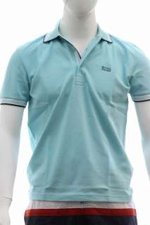 Hugo Boss Mens Modern Fit Paddy Polo Open Blue Shirt 50198254