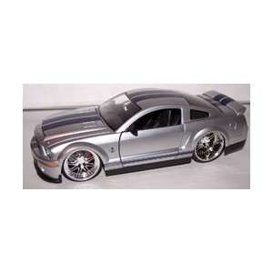 Big Time Muscle 2008 Shelby Gt 500kr in Color Silver Toys & Games