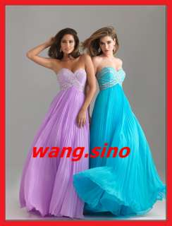 2012 Sweetheart Chiffon Formal Party Evening Gowns Prom Dresses