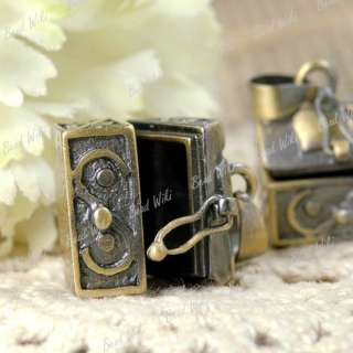Antique Brass Wish Prayer Box Charm Pendants MB0492 4