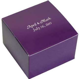 Cupcake Cookie Candy Wedding Favor Treat Gift Box 4x4   25 bxs